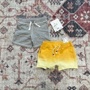 Lot of 2 pairs baby shorts Burts Bees and Peek